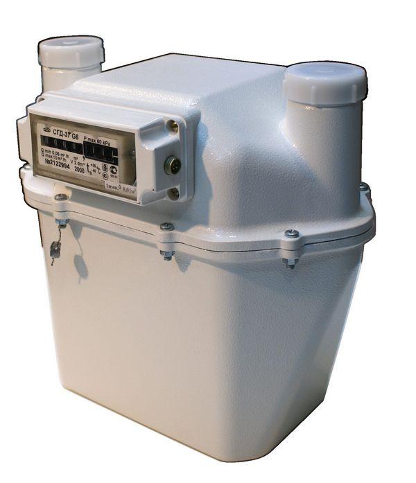 Счетчик газа диафрагменный с термокомпенсатором СГД-3Т