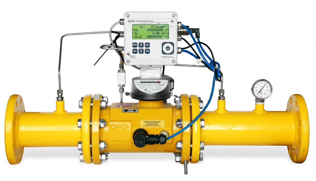 Пункт учета газа ПУГ-Ш-160 (на СГ-ЭКВз-Р-1.0-160/1.6(1:250) Ду 80, RABO с ППД, ИПД на фильтре, с КПР