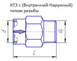 КТЗ с Внутренний-наружный тип резьбы