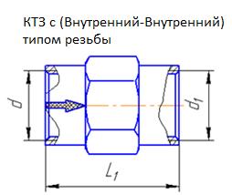 КТЗ с Внутрениий-Внутренний тип резьбы